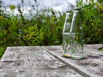 Empty abandoned bottles Royalty Free Stock Images