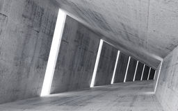 Empty abstract concrete interior, 3d render Stock Photography