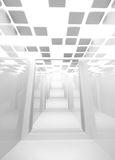 Empty abstract white modern corridor interior Royalty Free Stock Image