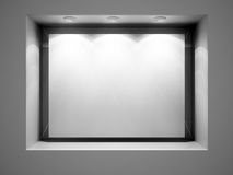 Empty ad space - store front display vector illustration