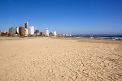 Empty Addington Beach Against Durban city Skyline Royalty Free Stock Photos