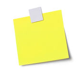 Empty adhesive note Royalty Free Stock Images