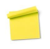 Empty adhesive note Stock Image