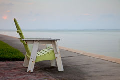 Empty Adirondack Chair Royalty Free Stock Image
