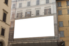 Empty advertisement billboard Stock Photography