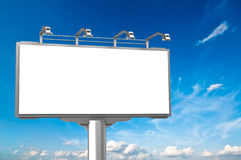 Empty advertisement hoarding at sky background Stock Image