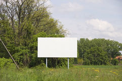 Empty advertisement sign Stock Image