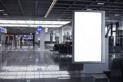 Empty advertising frame in airport Stock Images