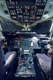 Empty aeroplane cockpit Royalty Free Stock Images