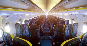 Empty aircraft cabin Stock Photography