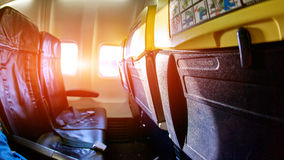 Empty aircraft cabin Stock Images