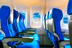 Empty aircraft seats Royalty Free Stock Photos
