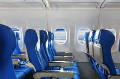 Empty aircraft seats Stock Image