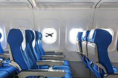 Empty aircraft seats Stock Photography