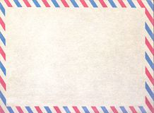 Empty airmail blank or letter, cardboard paper. stock images