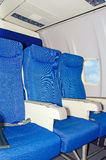 Empty airplane seats. Royalty Free Stock Photos