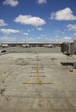 Empty Airplane Terminal Daytime. Always waiting for late planes Royalty Free Stock Photos