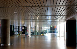 The Empty Airport. The empty upper level of an airport early in the morning Stock Photos