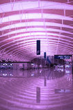 EMPTY AIRPORT. The modern and  large airports Royalty Free Stock Photo