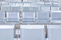 Empty airport chairs Royalty Free Stock Images