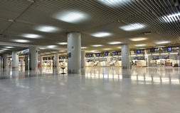 Empty airport check-in Royalty Free Stock Images