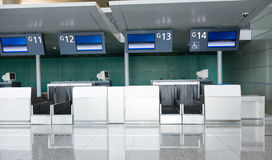 Empty airport check-in royalty free stock photo