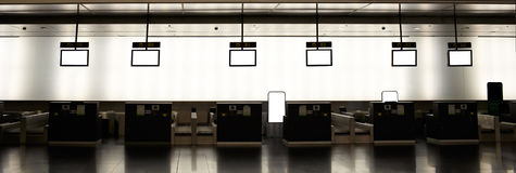 Empty airport check-ins Royalty Free Stock Images