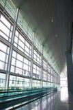 Empty Airport Corridor Stock Photo