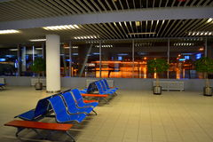 Empty airport evening lounge Royalty Free Stock Photo