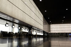 Empty airport hall. Royalty Free Stock Image