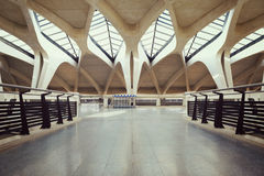 Empty airport hall way Royalty Free Stock Photography