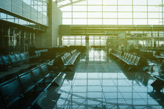 Empty airport lounge with empty seats in lounge area Royalty Free Stock Photography