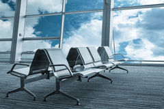 Empty airport lounge Royalty Free Stock Photo