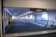 Empty airport in Mexico City Stock Images