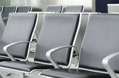 Empty airport seats Royalty Free Stock Images