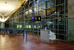 Empty airport terminal Stock Images