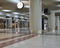 Empty airport terminal - entrance Stock Images