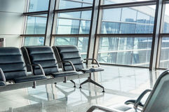 Empty airport terminal Royalty Free Stock Photo