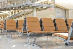 Empty airport waiting area Stock Photos