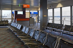 Empty airport waiting area Royalty Free Stock Images