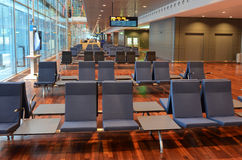Empty airport waiting area. At Stockholm Arlanda airport Royalty Free Stock Photography