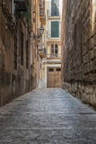 An empty alley Royalty Free Stock Photo