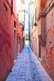 Empty Venice Alley. An empty alley somewhere in the city of Venice, Italy stock images