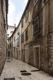 Empty alley at Split's old town Royalty Free Stock Image