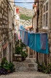 Empty alley and stairs at Dubrovnik's Old Town Stock Photos