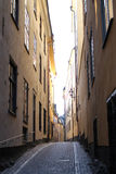Empty alley in Stockholm Stock Image
