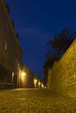 Empty alley in Tallinn Royalty Free Stock Images