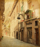 Empty alleyway in Barcelona. Stock Images