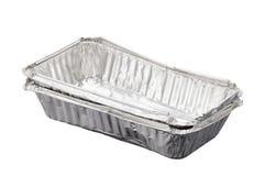 Empty aluminium foil Stock Image