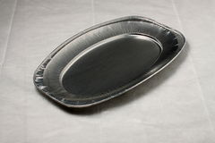 Empty aluminium plate Royalty Free Stock Photography
